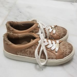 Michael Kors size 12 Tan Monogram Sneakers